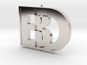 Black Dog Engineering 3D Logo in Platinum