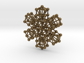 Snowflake of Life v 2.0 in Natural Bronze