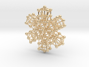 Snowflake of Life v 2.0 in 14K Yellow Gold