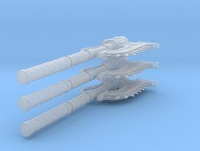 Warhammer chainaxe (x3) in Smooth Fine Detail Plastic