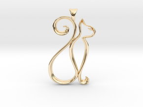 The Cat Necklace in 14k Gold Plated Brass