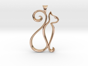 The Cat Necklace in 14k Rose Gold Plated Brass
