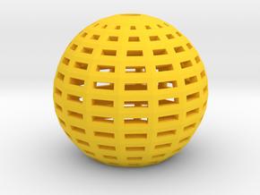 Gid_lampshade_sample in Yellow Processed Versatile Plastic