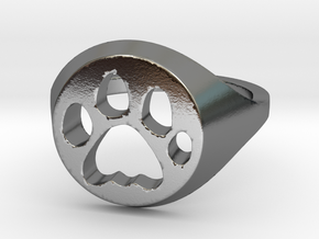 Cat ring  in Polished Silver: 7 / 54