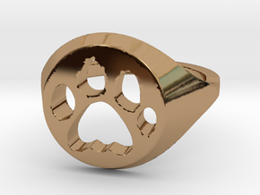 Cat ring  in Polished Brass: 7 / 54