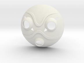 Princess Mononoke Mask in White Natural Versatile Plastic