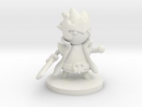 Warlock (Beta) in White Premium Versatile Plastic