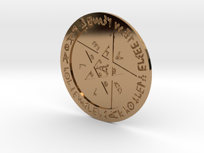 Sigil For Warding Old Age in Polished Brass