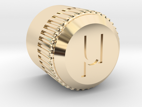 uBITX Encoder Knob in 14K Yellow Gold