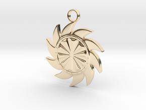 Sun V3 in 14k Gold Plated Brass