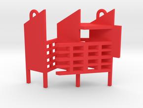 Dualidades Pendant (Diego) in Red Processed Versatile Plastic