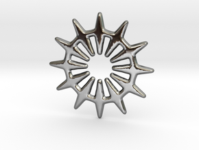 12 pointed star geometric base shape in Premium Silver