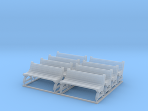 Bench type A - TT ( 1:120 scale ) 8 Pcs set in Frosted Ultra Detail
