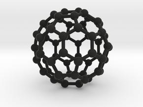0009 Fullerene c60 ih in Black Premium Versatile Plastic