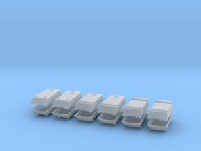 Dachaufsatz Hochdach Mix-Set für Roco VW T4 12erSe in Smooth Fine Detail Plastic