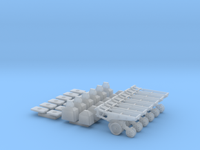 1/64 7200 Series Row Units, 6 pack, Conventional in Smooth Fine Detail Plastic