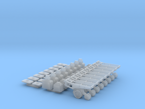 1/64 7200 Series Row Units, 8 pack, Conventional in Smooth Fine Detail Plastic