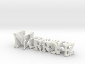 3dWordFlip: Morrose/Naivara in White Natural Versatile Plastic