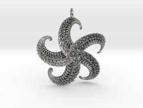 5Starfish Pendant in Natural Silver