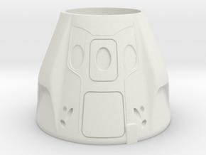 SpaceX Dragon 2 Themed Pop/Soda Holder in White Natural Versatile Plastic