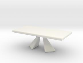 Miniature Prora Dining Table - Bonaldo in White Natural Versatile Plastic: 1:48 - O