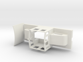 44 ton Steeplecab Body in White Natural Versatile Plastic