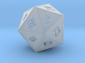 D20 - Simple Hollow in Smoothest Fine Detail Plastic