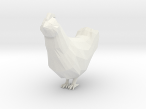 Chicken in White Natural Versatile Plastic
