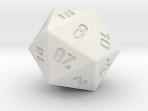 D20 - Simple in White Natural Versatile Plastic