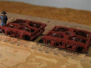 T30b 8 N wood beam trucks, Civil War USMRR, Bach in Smooth Fine Detail Plastic