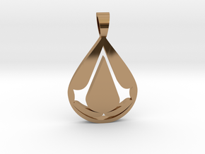 Assassin [pendant] in Polished Brass