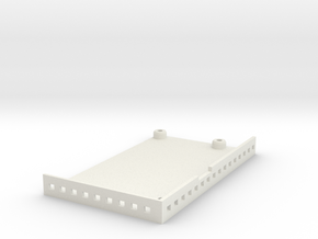 Case for tank electronic board in White Natural Versatile Plastic