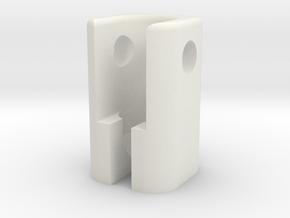 ScrewStringline in White Natural Versatile Plastic