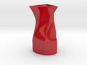 Vase SI in Gloss Red Porcelain