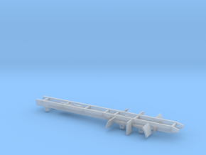 Tandem Axle truck frame in Smooth Fine Detail Plastic