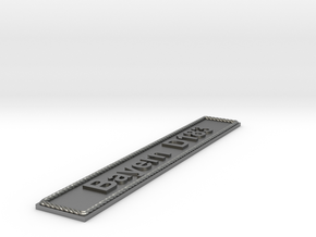 Nameplate Bayern D183 in Natural Silver