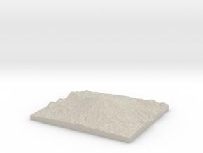 Model of Crater Glacier Western Lobe in Natural Sandstone