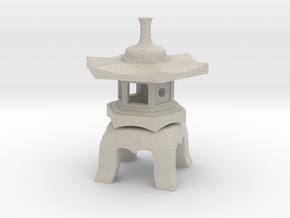 Yukimi-Doro Japanese Stone Lantern in Sandstone