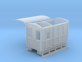 WHHR Brake and luggage van NO.2 ex VOR in Smooth Fine Detail Plastic
