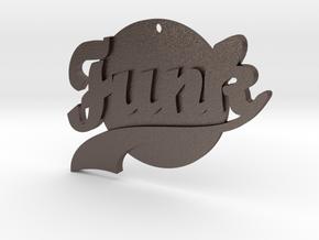Funk Pendant in Polished Bronzed Silver Steel