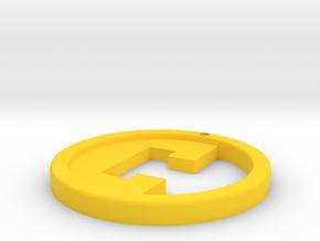 Crypto Hunt keyring in Yellow Processed Versatile Plastic