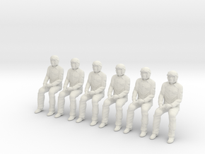 Pilot 01 pose seated.1:48 Scale. in White Natural Versatile Plastic