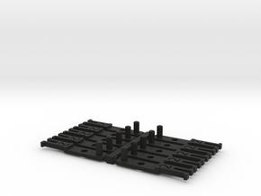 OO NEM Type 2 Coach Drawbar X10 in Black Natural Versatile Plastic