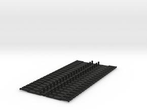OO NEM Type 5 Coach Drawbar X40 in Black Natural Versatile Plastic