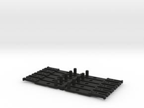 OO NEM Type 5 Coach Drawbar X10 in Black Natural Versatile Plastic