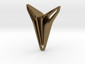 YOUNIQ Edge Pendant. Pure Chic in Natural Bronze