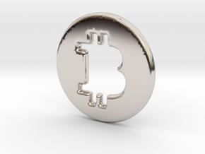 Bitcoin Hollow in Platinum