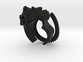 Flying scary Dragon ring in Black Premium Strong & Flexible: 5 / 49