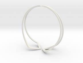 HIDDEN HEART Bracelet. Pure Elegance  in White Natural Versatile Plastic: Medium
