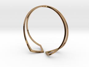 HIDDEN HEART Bracelet. Pure Elegance  in Polished Brass: Medium